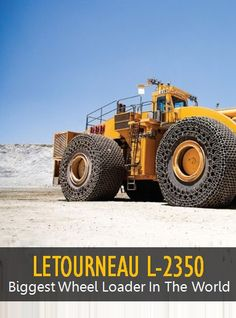 Video of LeTourneau L-2350 with full specs and features. The World's Largest Wheel loader in operation.
