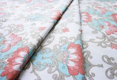 Riley Blake Priscilla Damask Blue C3361