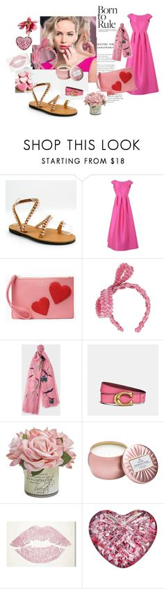 """""""Born to rule"""" by eathini ❤ liked on Polyvore featuring Cailan'd, Gigi Burris Millinery, Paul Smith, Coach, Voluspa, Oliver Gal Artist Co. and Waterford"""