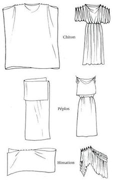 Ancient Greek clothing - classic Chiton, Peplos and Himation Diy Clothing, Sewing Clothes, Clothing Patterns, Sewing Patterns, Gypsy Clothing, Greek Chiton, Greek Toga, Ancient Greek Clothing, Ancient Greek Dress