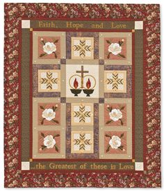 Come see a beautiful treasury of faith quilts in the new book Paper Piecing Quilts of Praise. Inspired by traditional hymns, 18 blocks and five patterns feature Communion, Christmas, and Palm Sunday themes.