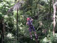 Having your guide take a video of you ziplinning through the jungle in Costa Rica so you can post it on Facebook