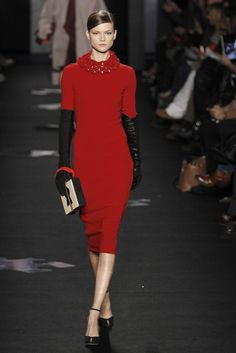 From DVF F/W 2012 RTW collection. Not normally a fan of this kind of red, but I like this particular dress.