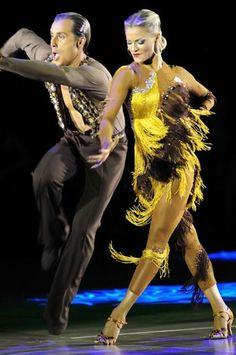 yellow and black latin dress long diagonal fringe skirt