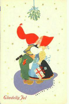 Julekort Erling Nielsen 1920-tallet