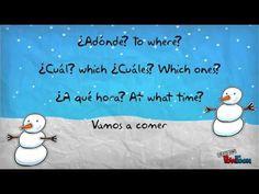 Spanish Interrogatives Jingle Bells Song/ Canción de los Interrogativos - YouTube