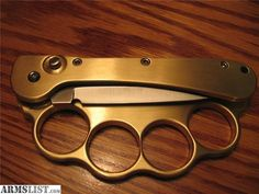 ARMSLIST - For Sale: switchblade auto otf automatic brass knuckle knife knuckles duster coil spring VER RARE ! Cool Tactical Gear, Tactical Knives, Zombie Gear, Switchblade Knife, Boot Knife, Trench Knife, Brass Knuckles, Glass Breaker, Greaser