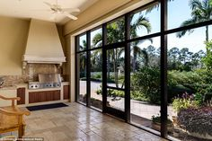 Done in a Mediterranean style, the main house also features a chef's kitchen and a walk-in vault that can be used as a safe room