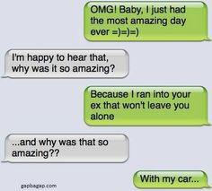 Lol cute texts, hilarious texts, funny ex memes, flirting memes, funny mems Funny Ex Memes, Funny Text Fails, Flirting Memes, Hilarious Texts, Funny Mems, Funny Drunk, Drunk Texts, Epic Texts, Funny Bf