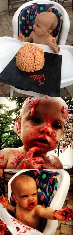 Zombie baby- so wrong but so funny
