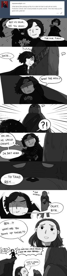 Ben Solo's bonding time with uncle Chewie.