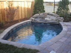 small pool-- I am so ready!! Rather have a small swimming area this time, tho..