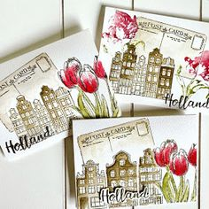 Holland, 13 October, Flower Girl Gifts, Handmade Tags, House Of Cards, Mini Paintings, My Stamp, Diy Projects To Try, Diy Cards