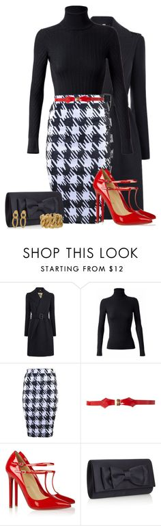 """""""Belt It Out Loud!"""" by sheavschaaf ❤ liked on Polyvore featuring Burberry, Derek Lam, Ted Baker, Christian Louboutin, Debut, Style Naturale, Yves Saint Laurent, pointed-toe pumps, pencil skirts and skinny belts"""