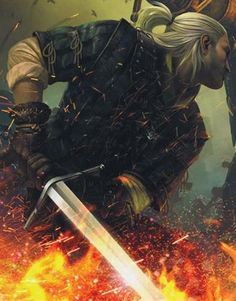 This is the most badass version of Rhaegar Targaryen I've seen<< that's not him. That's Geralt from Witcher....