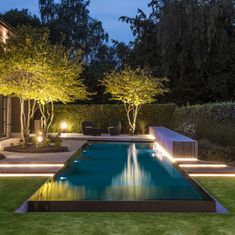 49 Creative Narrow Pools For The Tightest Spaces Ideas Many love to have a pool at home because it helps them relax. It is also an ideal place to … Swimming Pool Lights, Swiming Pool, Swimming Pools Backyard, Swimming Pool Designs, Pool Spa, Backyard Pool Landscaping, Backyard Pool Designs, Small Backyard Pools, Outdoor Pool