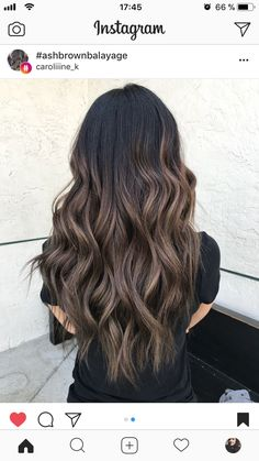 Subtle and Wavy Partial Balayage Hair - 20 Jaw-Dropping Partial Balayage Hairstyles - The Trending Hairstyle Brown Hair Balayage, Hair Color Balayage, Hair Highlights, Bayalage, Haircolor, Hair Color And Cut, Brown Hair Colors, Hair Color Ideas For Dark Hair, Hair Goals Color
