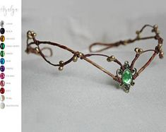Woodland elf tiara - elven headpiece - fairy crown woodland tiara - circlet - elf tiara - elven tiara - woodland wedding crown - handmade forest tiara, fit on the back with a ribbon. Elven Princess, Princess Style, Woodland Elf, Fairy Crown, Circlet, Ear Cuffs, Woodland Wedding, Forest Wedding, Tiaras And Crowns