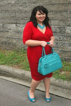 Red + turquoise = <3 Love this outfit and LOVE this girl's blog
