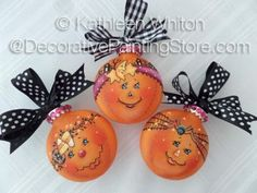 The Decorative Painting Store: Pumpkin Ornaments Pattern - Kathleen Whiton - PDF DOWNLOAD, Newly Added Painting Patterns / e-Patterns