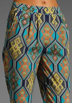 MARA HOFFMAN Pleated Pant in Kilim Navy at Revolve Clothing - Free Shipping!