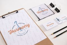 Harmony Music Center Brand Identity Design by Julie Harris Design