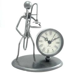 This clock should be given to trombone players everywhere!