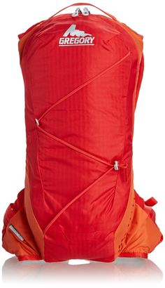 Gregory Mountain Products Miwok 6 Daypack, Tropic Orange, One Size. BioSync Suspension technology to keep the pack moving with you for unrestricted motion. Zippered main compartment with two internal mesh organizer pockets. Internal mesh security pocket. Zig-zag exterior bungee strap. Hydration sleeve with external access.