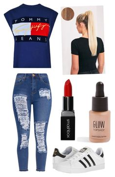 """Perrie Edwards Look😘"" by maggiehoeser36 on Polyvore featuring Tommy Hilfiger, adidas, Smashbox and Topshop"