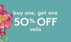 Buy One, Get One 50% Off - Veils
