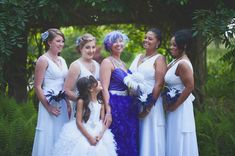 A Purple Feathers, Purple Hair & DIY Elegance: Jeni & Manny