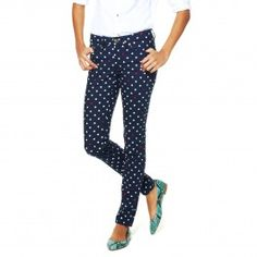 Obsessed with these fun patterned skinny jeans by C. Wonder!