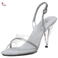 Pleaser  Car456/c/rs, Sandales femme - Transparent - Transparent (Clear), 40 EU (7 UK) - Chaussures pleaser (*Partner-Link)