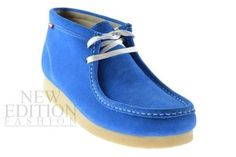 Clarks Stinson Hi Men's Wallabee Style Suede Casual Shoes 26100060 Blue-White in Clothing, Shoes & Accessories | eBay
