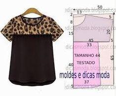Resultado de imagen para moldes de blusas femininas