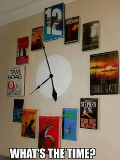 Book clock.  From The Friday Roundup of All My Favorite Things