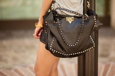 leather studded bad