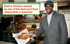 Ezells Chicken ranked one of the best soul food restaurants in America.  Take a right out of our driveway, a left on 140th, and it's in the complex on the right just before the next light.