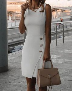 Chic Me: Women's Fashion Online Shopping - Work Dresses Mode Outfits, Fashion Outfits, Fashion Trends, Dress Fashion, Boho Trends, Blazer Fashion, Fashion Sandals, Party Fashion, Editorial Fashion