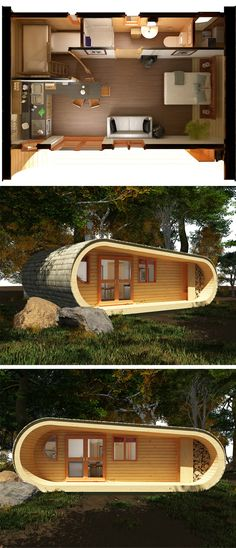 This would make for an awesome backyard guesthouse or a vacation home somewhere.