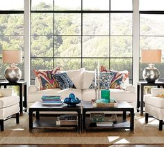 Lafayette Ikat Pillow Cover | Pottery Barn- 24x24, $69.50 for the cover without insert