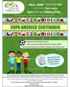 Cool modern hang out with your and & enjoy watching your favorite Copa America Centenario, Soccer Games, Team Shirts, Hanging Out, Kids Playing, Your Favorite, Dads, Parenting, Cool Stuff