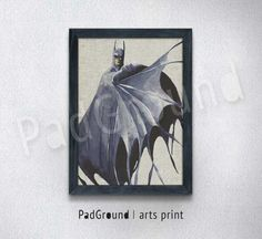 Batman Poster, Dark Knight, DC Comics, Superhero Print, Home Decor, Wall Decor, Canvas Print, Gift, Natural Linen Print Art with Frame -BM44 by PadGround on Etsy https://www.etsy.com/listing/208824637/batman-poster-dark-knight-dc-comics