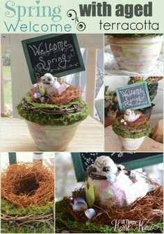 Spring Welcome for Michaels/Hometalk Pinterest Party ~ #MPinterestParty