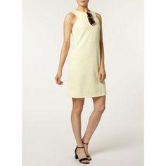 *** Pinned for colour and style ***  Dorothy Perkins Lemon cut away shift dress- at Debenhams.com