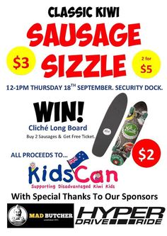 Sausage Sizzle for #KidsCan