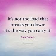 How you carry the load...