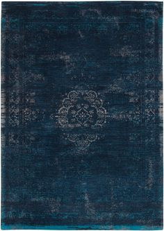 Louis De Poortere | Fading World Rugs - Madaillon - Blue Night 8254