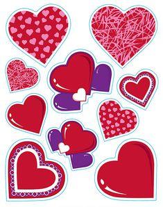 Pegatinas corazones San Valentín