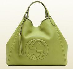 Gucci FW 2013/14 Soho a spalla in verde